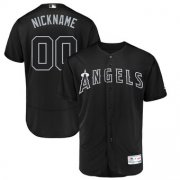 Wholesale Cheap Los Angeles Angels Majestic 2019 Players' Weekend Flex Base Authentic Roster Custom Jersey Black