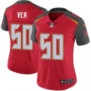 Wholesale Cheap Nike Buccaneers #50 Vita Vea Red Team Color Women's Stitched NFL Vapor Untouchable Limited Jersey