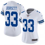 Wholesale Cheap Nike Cowboys #33 Tony Dorsett White Women's Stitched NFL Vapor Untouchable Limited Jersey