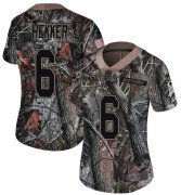 Wholesale Cheap Nike Rams #6 Johnny Hekker Camo Women's Stitched NFL Limited Rush Realtree Jersey