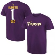 Wholesale Cheap Men's Minnesota Vikings Pro Line College Number 1 Dad T-Shirt Purple