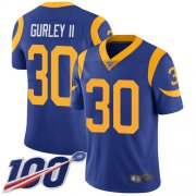 Wholesale Cheap Nike Rams #30 Todd Gurley II Royal Blue Alternate Men's Stitched NFL 100th Season Vapor Limited Jersey