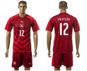 Wholesale Cheap Czech #12 Pavelka Red Home Soccer Country Jersey