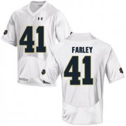 Wholesale Cheap Notre Dame Fighting Irish 41 Matthias Farley White College Football Jersey