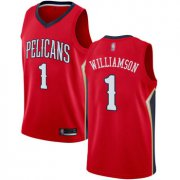 Wholesale Cheap Pelicans #1 Zion Williamson Red Basketball Swingman Statement Edition Jersey