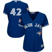 Wholesale Cheap Toronto Blue Jays #42 Majestic Women's 2019 Jackie Robinson Day Official Cool Base Jersey Royal