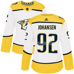 Wholesale Cheap Adidas Predators #92 Ryan Johansen White Road Authentic Women\'s Stitched NHL Jersey