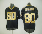 Wholesale Cheap Saints #80 Jimmy Graham Black Stitched NFL Jersey