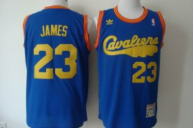 Wholesale Cheap Cleveland Cavaliers #23 LeBron James 2009 Blue Swingman Throwback Jersey