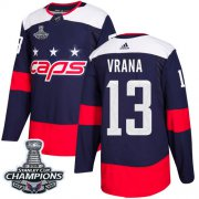 Wholesale Cheap Adidas Capitals #13 Jakub Vrana Navy Authentic 2018 Stadium Series Stanley Cup Final Champions Stitched NHL Jersey