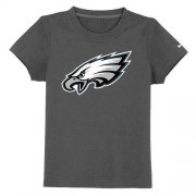 Wholesale Cheap Philadelphia Eagles Authentic Logo Youth T-Shirt Dark Grey