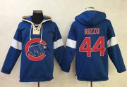Wholesale Cheap Cubs #44 Anthony Rizzo Blue Pullover MLB Hoodie