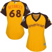 Wholesale Cheap Yankees #68 Dellin Betances Gold 2016 All-Star American League Women's Stitched MLB Jersey
