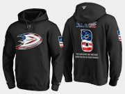 Wholesale Cheap Ducks #8 Teemu Selanne NHL Banner Wave Usa Flag Black Hoodie