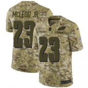 Wholesale Cheap Nike Eagles #23 Rodney McLeod Jr Camo Youth Stitched NFL Limited 2018 Salute to Service Jersey