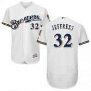 Wholesale Cheap Brewers #32 Jeremy Jeffress White Flexbase Authentic Collection Stitched MLB Jersey