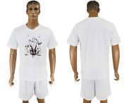 Wholesale Cheap Manchester United Blank White Soccer Club T-Shirt