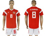 Wholesale Cheap Russia #8 Glushakov Home Soccer Country Jersey