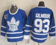 Wholesale Cheap Maple Leafs #93 Doug Gilmour Blue 75th CCM Throwback Stitched NHL Jersey