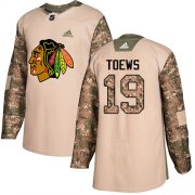 Wholesale Cheap Adidas Blackhawks #19 Jonathan Toews Camo Authentic 2017 Veterans Day Stitched NHL Jersey