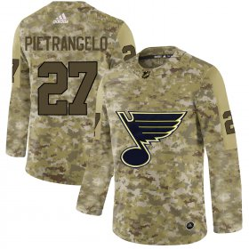 Wholesale Cheap Adidas Blues #27 Alex Pietrangelo Camo Authentic Stitched NHL Jersey