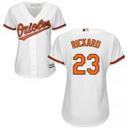 Wholesale Cheap Orioles #23 Joey Rickard White Home Women's Stitched MLB Jersey