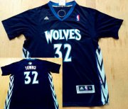 Wholesale Cheap Men's Minnesota Timberwolves #32 Karl-Anthony Towns Revolution 30 Swingman Black Short-Sleeved Jersey