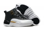 Wholesale Cheap Kids Air Jordan 12 Wings Black/white-gold
