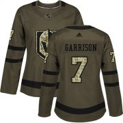 Wholesale Cheap Adidas Golden Knights #7 Jason Garrison Green Salute to Service Women's Stitched NHL Jersey