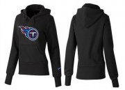 Wholesale Cheap Women's Tennessee Titans Logo Pullover Hoodie Black