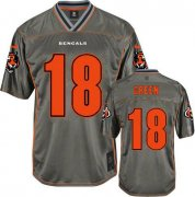 Wholesale Cheap Nike Bengals #18 A.J. Green Grey Youth Stitched NFL Elite Vapor Jersey