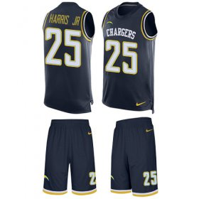 Wholesale Cheap Nike Chargers #25 Chris Harris Jr Navy Blue Team Color Men\'s Stitched NFL Limited Tank Top Suit Jersey