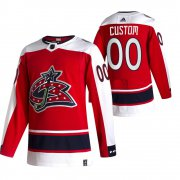 Wholesale Cheap Columbus Blue Jackets Custom Red Men's Adidas 2020-21 Alternate Authentic Player NHL Jersey