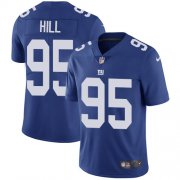 Wholesale Cheap Nike Giants #95 B.J. Hill Royal Blue Team Color Men's Stitched NFL Vapor Untouchable Limited Jersey