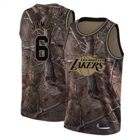 Wholesale Cheap Lakers #6 LeBron James Camo Basketball Swingman Realtree Collection Jersey