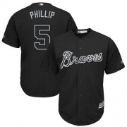 "Wholesale Cheap Braves #5 Freddie Freeman Black ""Phillip"" Players Weekend Cool Base Stitched MLB Jersey"