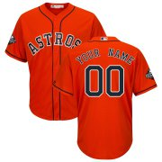 Wholesale Cheap Houston Astros Majestic 2019 World Series Bound Official Cool Base Custom Jersey Orange