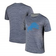 Wholesale Cheap Men's Detroit Lions Nike Gray Black Striped Logo Performance T-Shirt