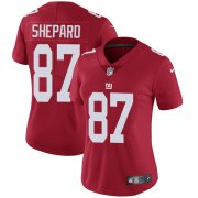Wholesale Cheap Nike Giants #87 Sterling Shepard Red Alternate Women's Stitched NFL Vapor Untouchable Limited Jersey