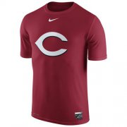 Wholesale Cheap Cincinnati Reds Nike Authentic Collection Legend Logo 1.5 Performance T-Shirt Red