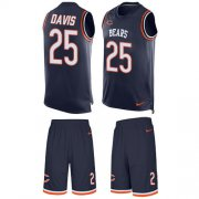 Wholesale Cheap Nike Bears #25 Mike Davis Navy Blue Team Color Men's Stitched NFL Limited Tank Top Suit Jersey