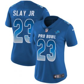 Wholesale Cheap Nike Lions #23 Darius Slay Jr Royal Women\'s Stitched NFL Limited NFC 2019 Pro Bowl Jersey