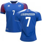 Wholesale Cheap Iceland #7 J.Gudmudsson Home Soccer Country Jersey