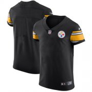 Wholesale Cheap Nike Steelers Blank Black Team Color Men's Stitched NFL Vapor Untouchable Elite Jersey