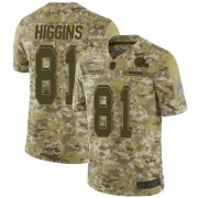 Wholesale Cheap Nike Browns #81 Rashard Higgins Camo Men's Stitched NFL Limited 2018 Salute To Service Jersey