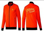 Wholesale Cheap MLB Oakland Athletics Zip Jacket Orange
