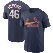 Wholesale Cheap St. Louis Cardinals #46 Paul Goldschmidt Nike Name & Number T-Shirt Navy