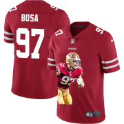 Cheap San Francisco 49ers #97 Nick Bosa Nike Team Hero Vapor Limited NFL Jersey Red