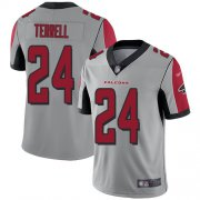 Wholesale Cheap Nike Falcons #24 A.J. Terrell Silver Men's Stitched NFL Limited Inverted Legend Jersey