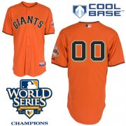 Wholesale Cheap Giants Customized Authentic Orange Cool Base MLB Jersey w/2010 World Series Patch (S-3XL)
